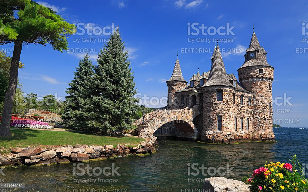 The Power House of Boldt Castle, Thousand Islands stock photo