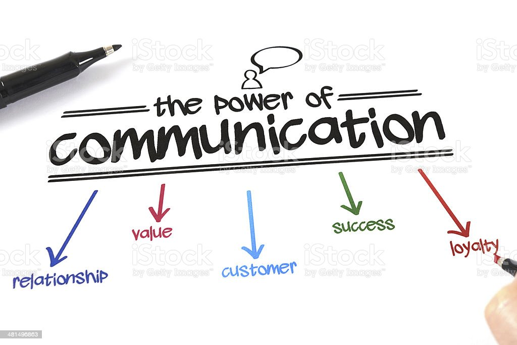 The Power Of Communication stock photo