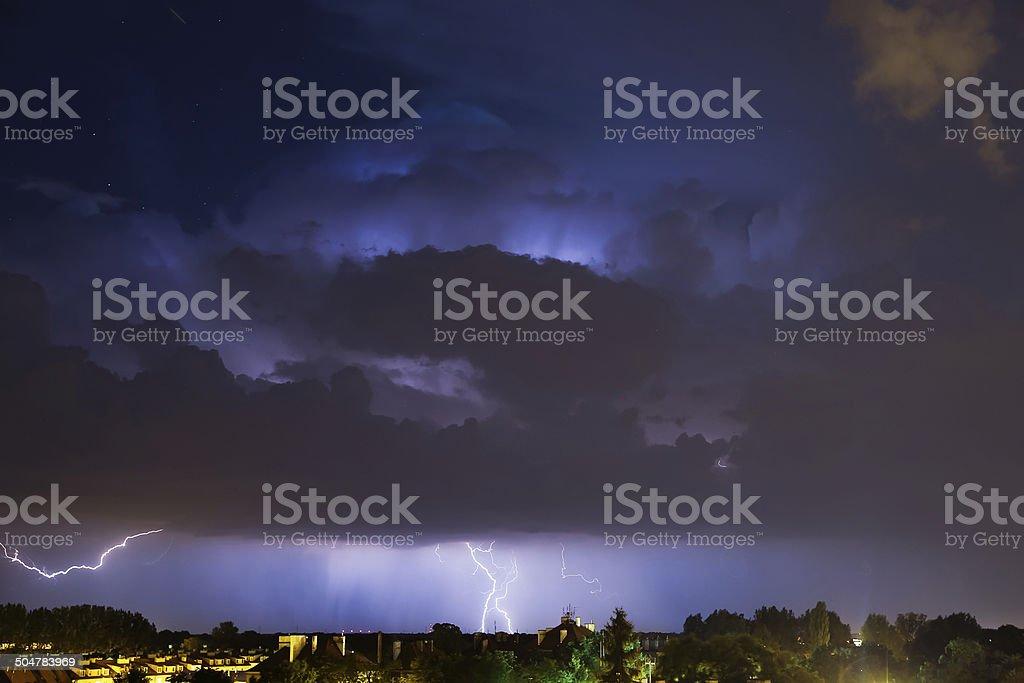 The power of night stock photo