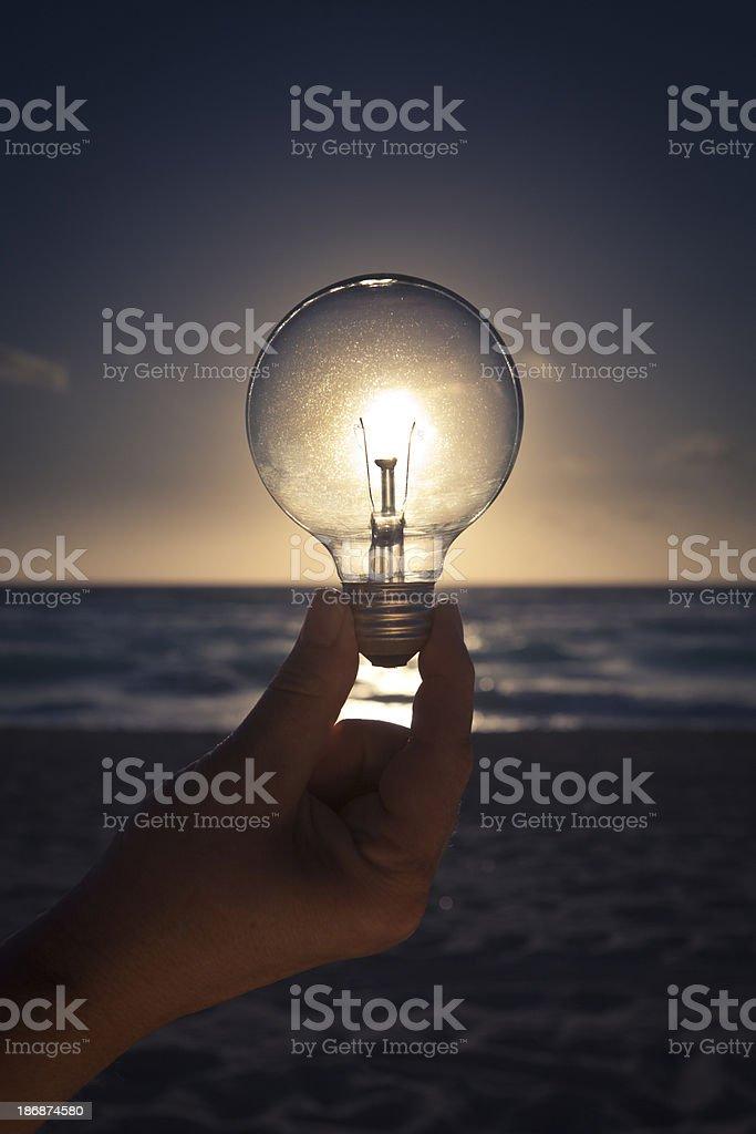 The Power of Solar Energy royalty-free stock photo