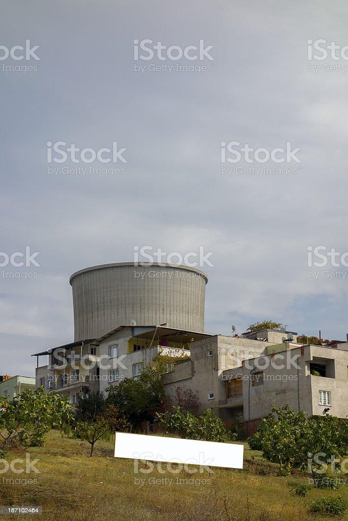 The power plant chimney royalty-free stock photo