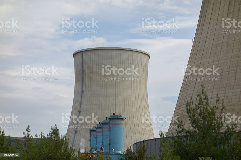 The power plant chimney royalty-free stock photo