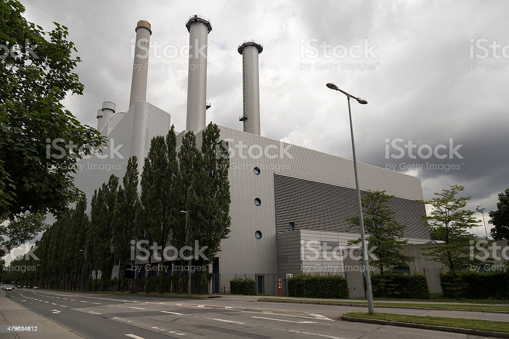 The power plant royalty-free stock photo