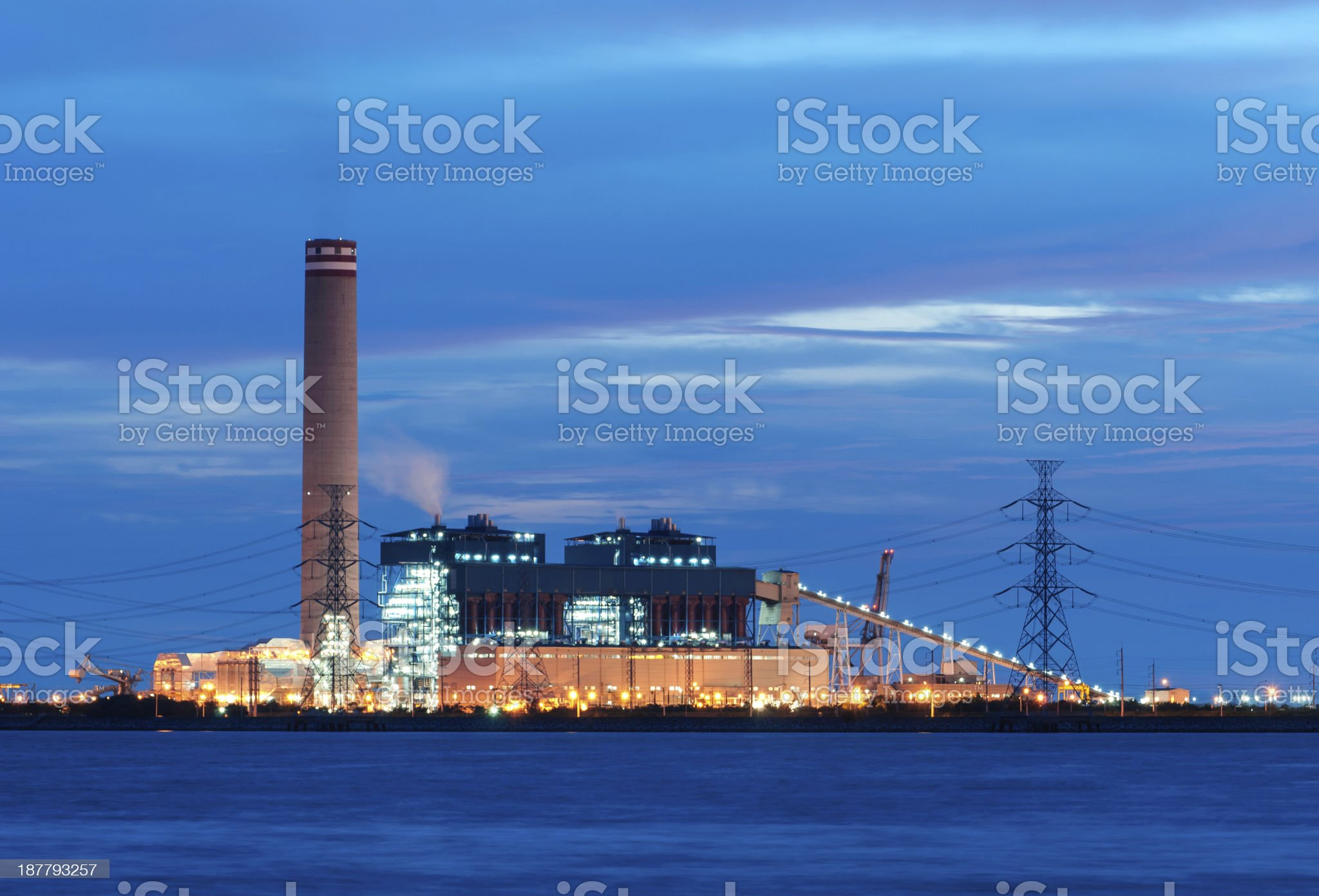 The power station royalty-free stock photo