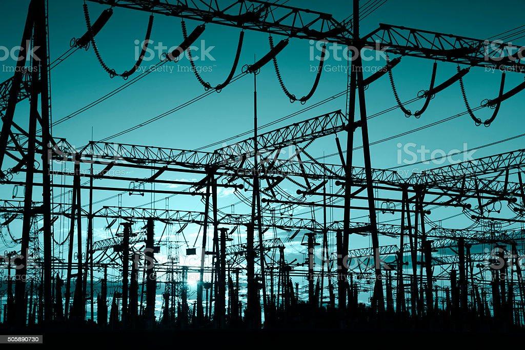The power supply facilities stock photo