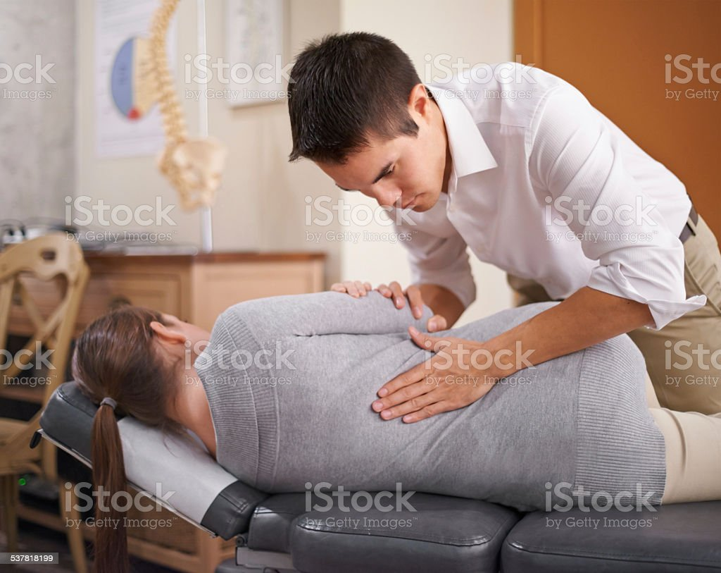 The power that made the body, heals the body stock photo