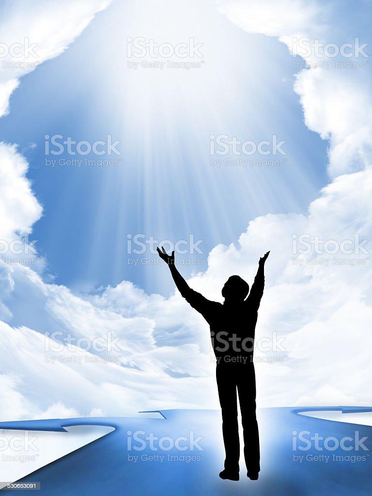 the Prayer stock photo