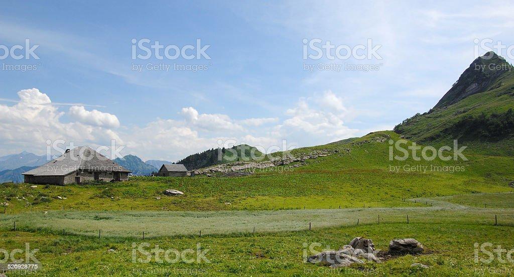 The Pre-Alps in Gruyere area - Switzerland stock photo
