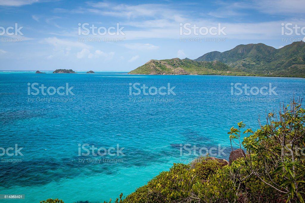 The prefect Ocean outside Providencea, Colombia stock photo
