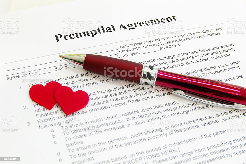 the prenup royalty-free stock photo