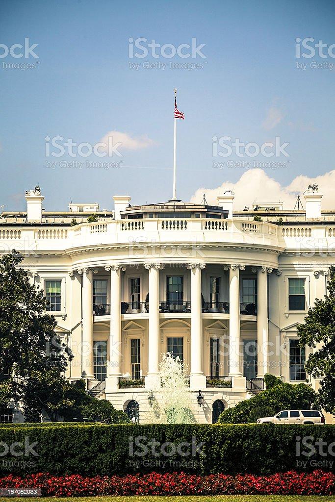 The Presidential White House in Washington DC, USA Landmark royalty-free stock photo