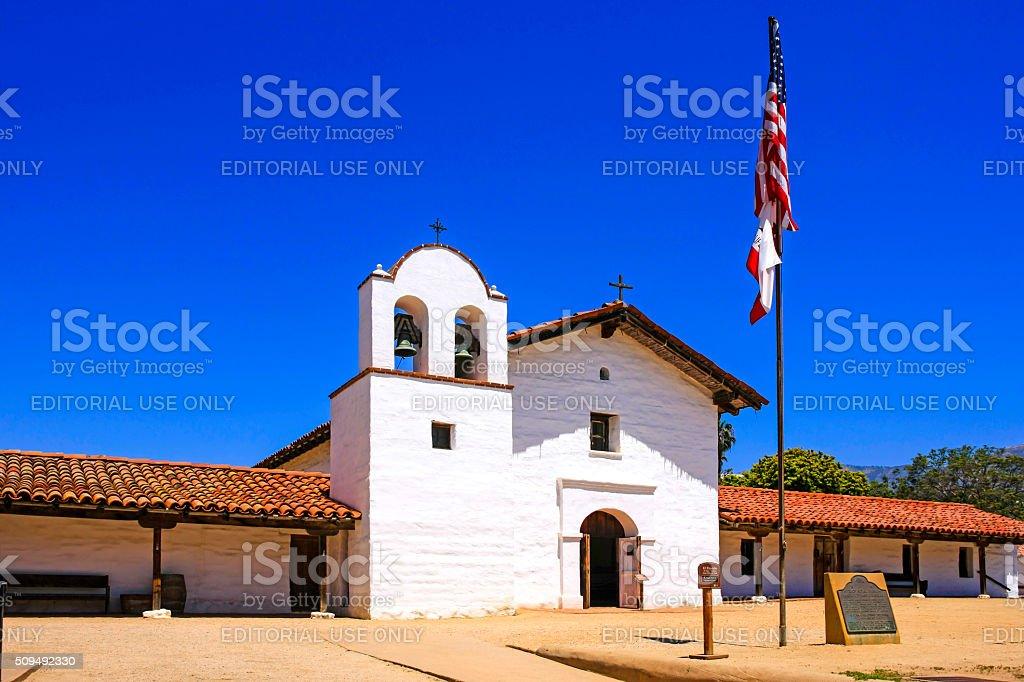 The Presidio State Historic Park building in Santa Barbara stock photo