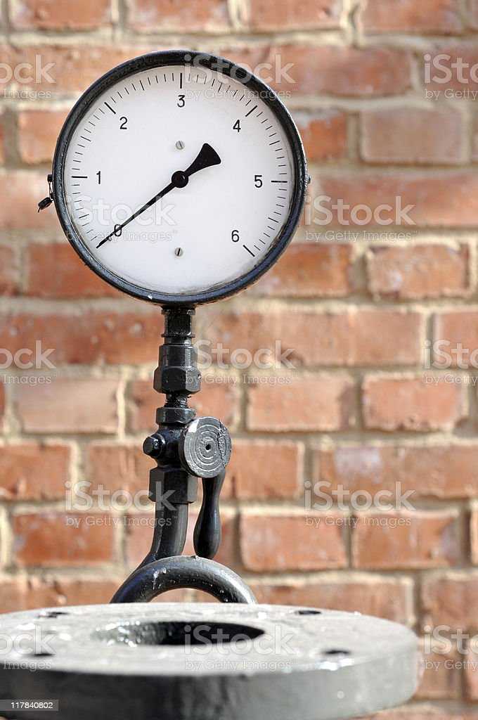 The pressure gauge stock photo