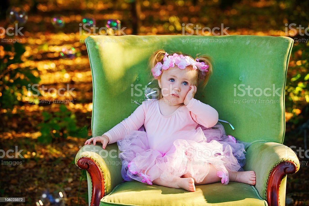The Princess is Tired royalty-free stock photo