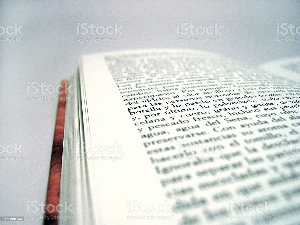 the printed word stock photo