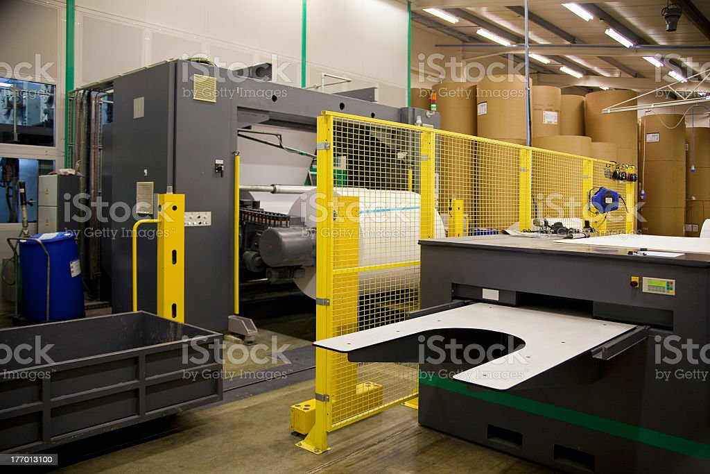 The printing press stock photo