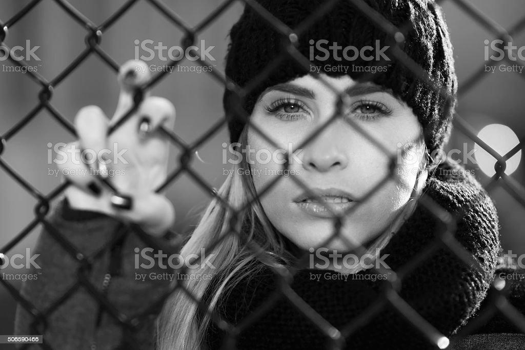 the prison pain stock photo