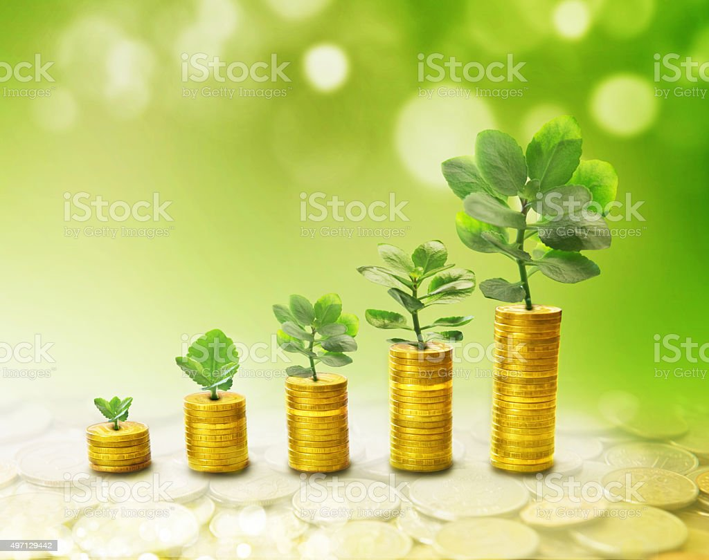 The process of growth of income stock photo