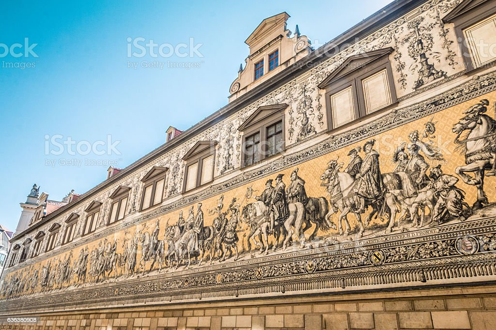The procession of Princes in Dresden Germany stock photo