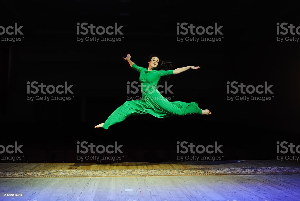 the professional dancer works at a scene stock photo