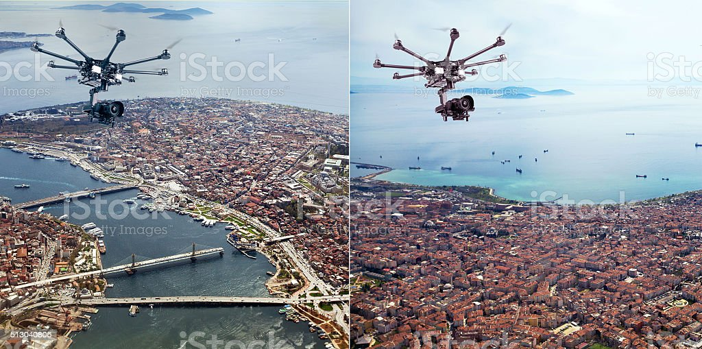 The professional drone stock photo