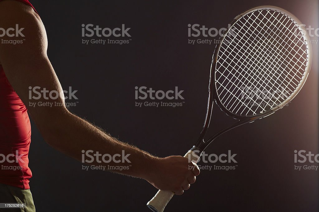 The professional tennis player royalty-free stock photo