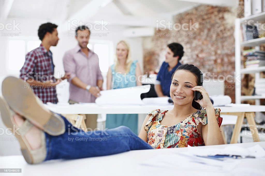 The project is complete royalty-free stock photo