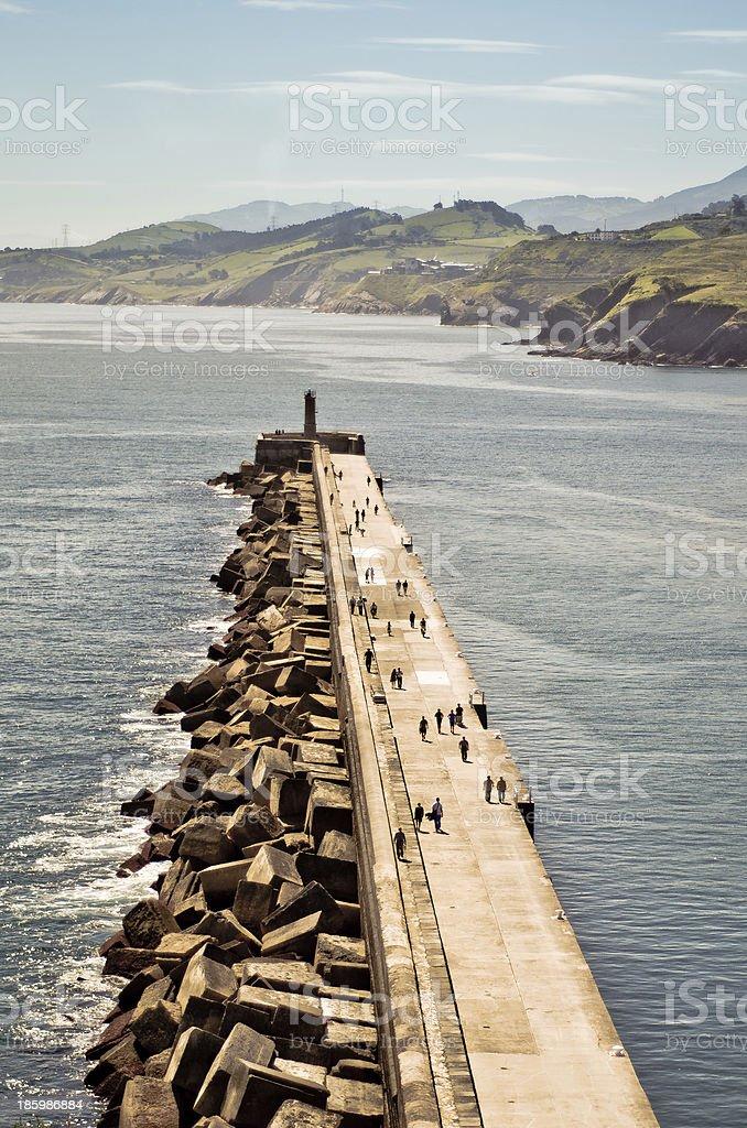 The promenade. stock photo