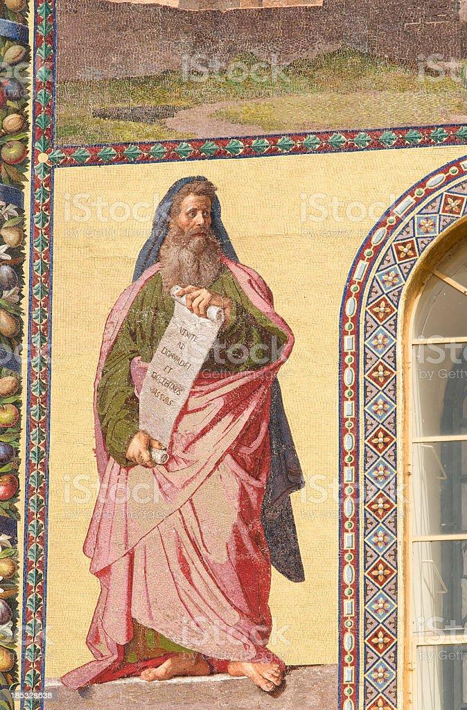 The prophet Isaia stock photo