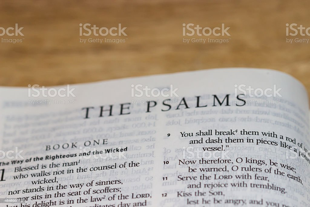 The Psalms (Bilbe) stock photo