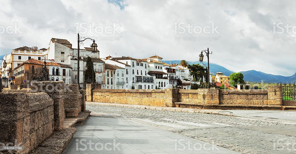 The Puente Nuevo bridge in Ronda. stock photo