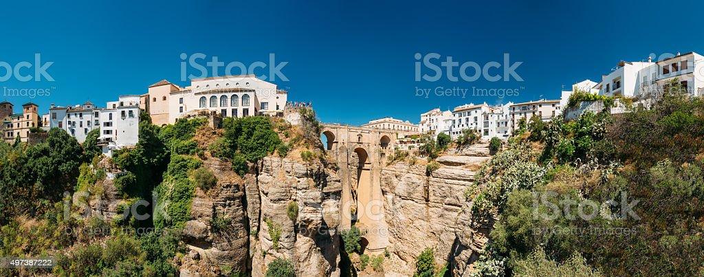 The Puente Nuevo (New Bridge) in Ronda, Spain stock photo