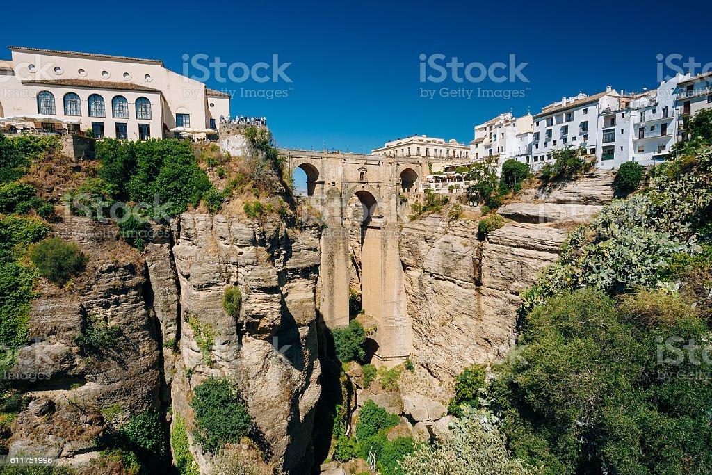 The Puente Nuevo - New Bridge in Ronda, Spain stock photo