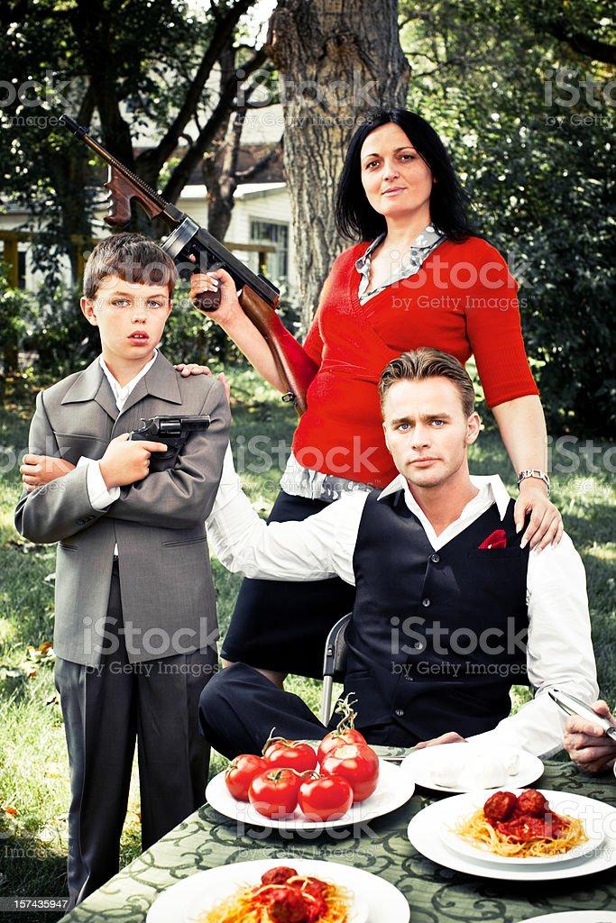 The Pulcino family royalty-free stock photo