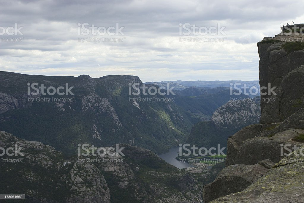 The Pulpit Rock royalty-free stock photo