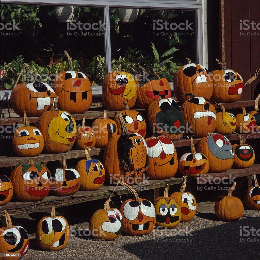 The pumpkin gang royalty-free stock photo