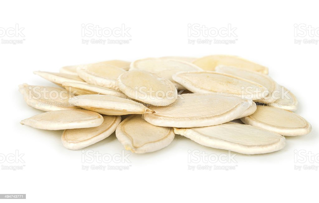 the pumpkin seeds on cooking stock photo