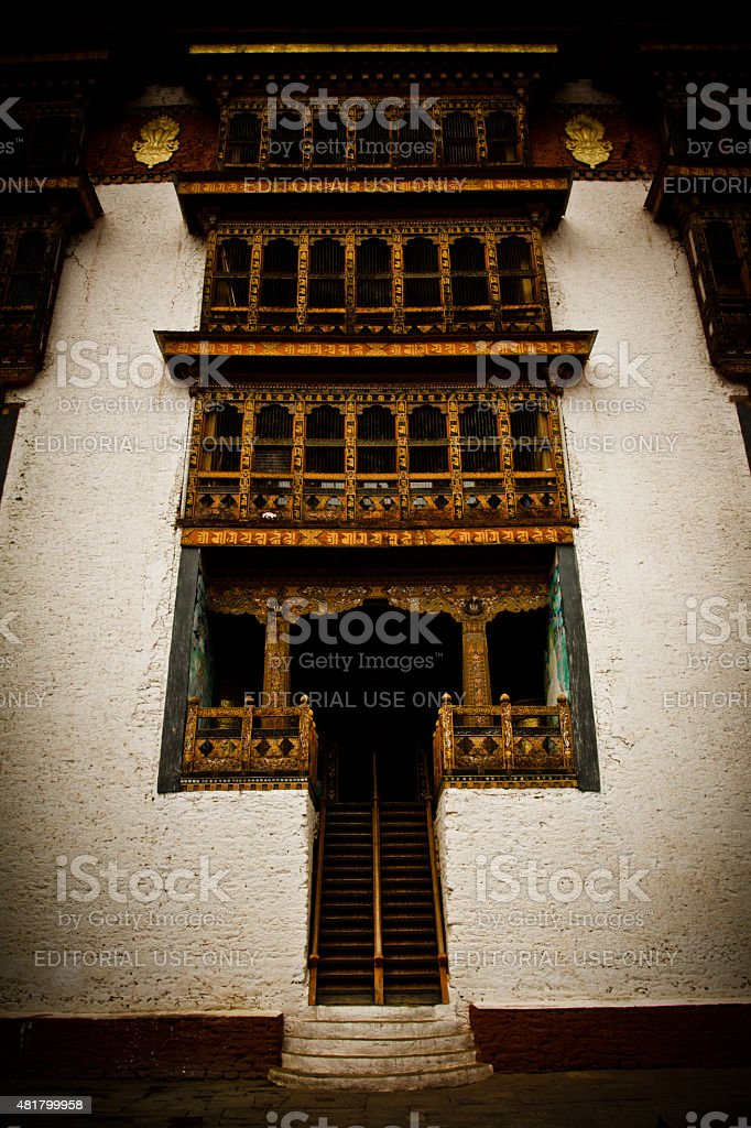 The Punakha Fortress Monastery, Paro, Bhutan stock photo