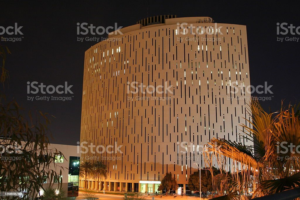 The Punch Card Building royalty-free stock photo