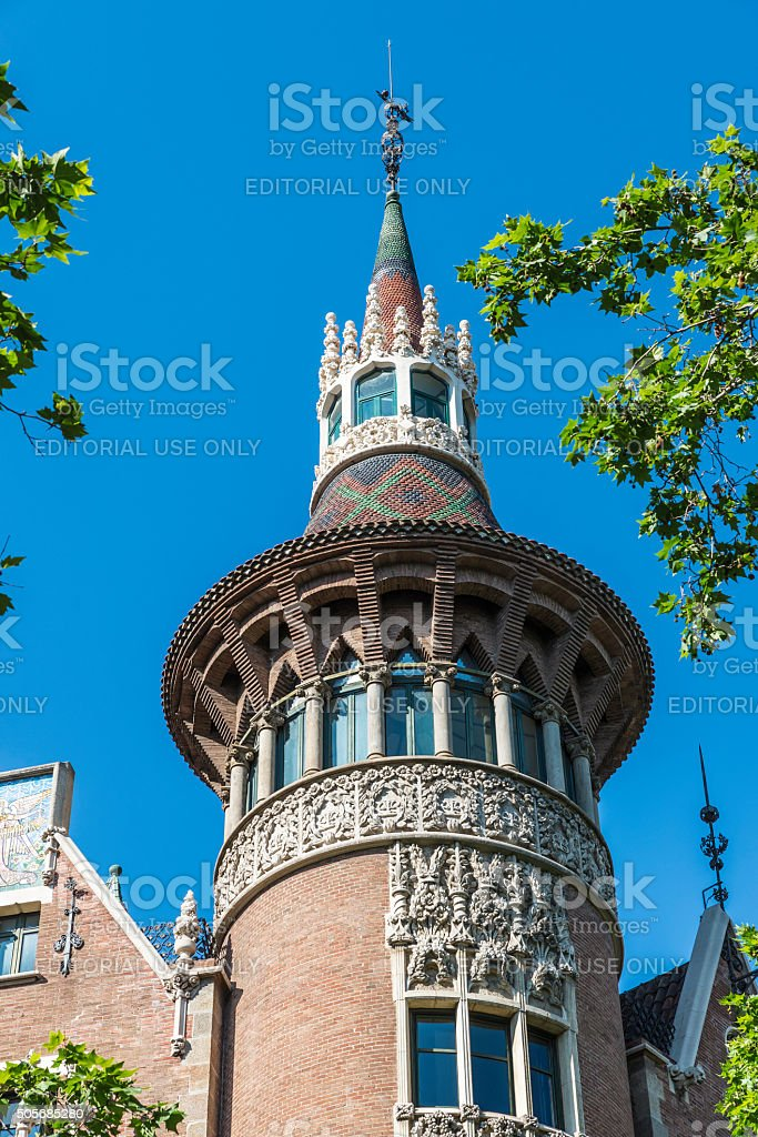 The Punxes house, Barcelona, Spain stock photo