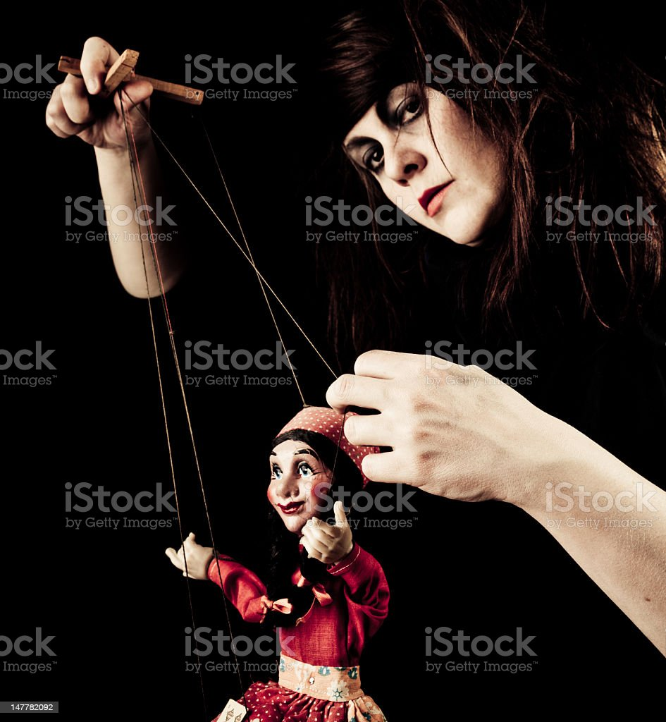 The Puppeteer royalty-free stock photo
