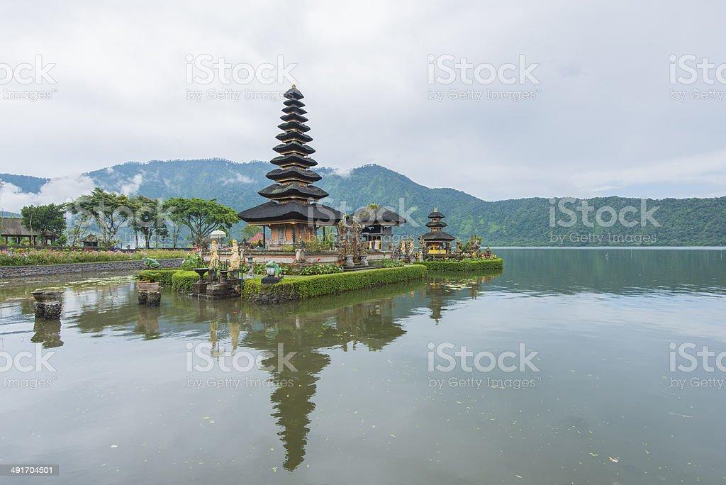 The Pura Ulun Danau Water Temple, Bali, Indonesia stock photo