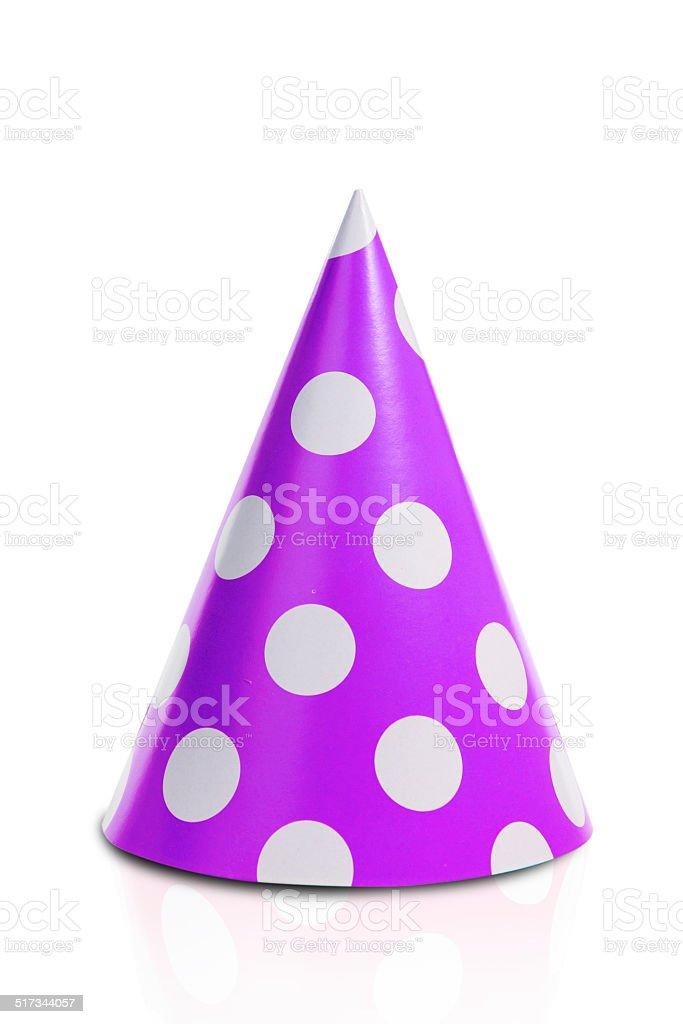 The purple fool's cap stock photo