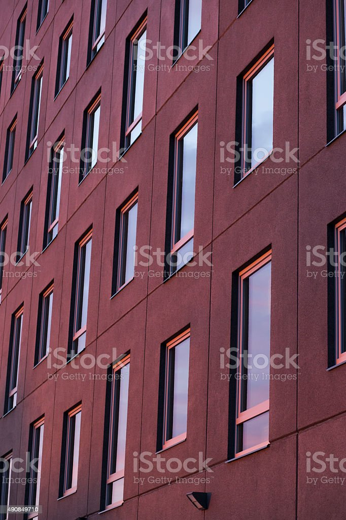 The purple wall stock photo
