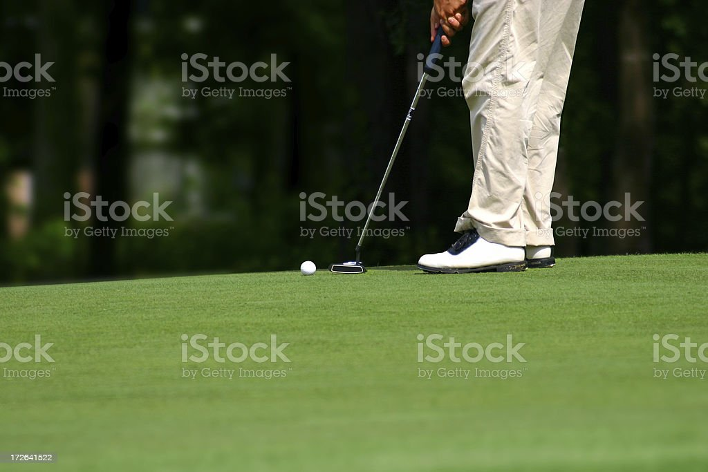 The Putt royalty-free stock photo