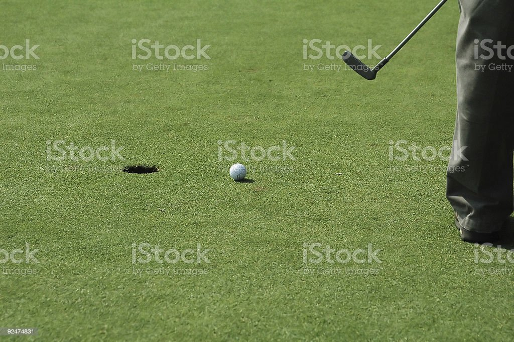 The Putt stock photo