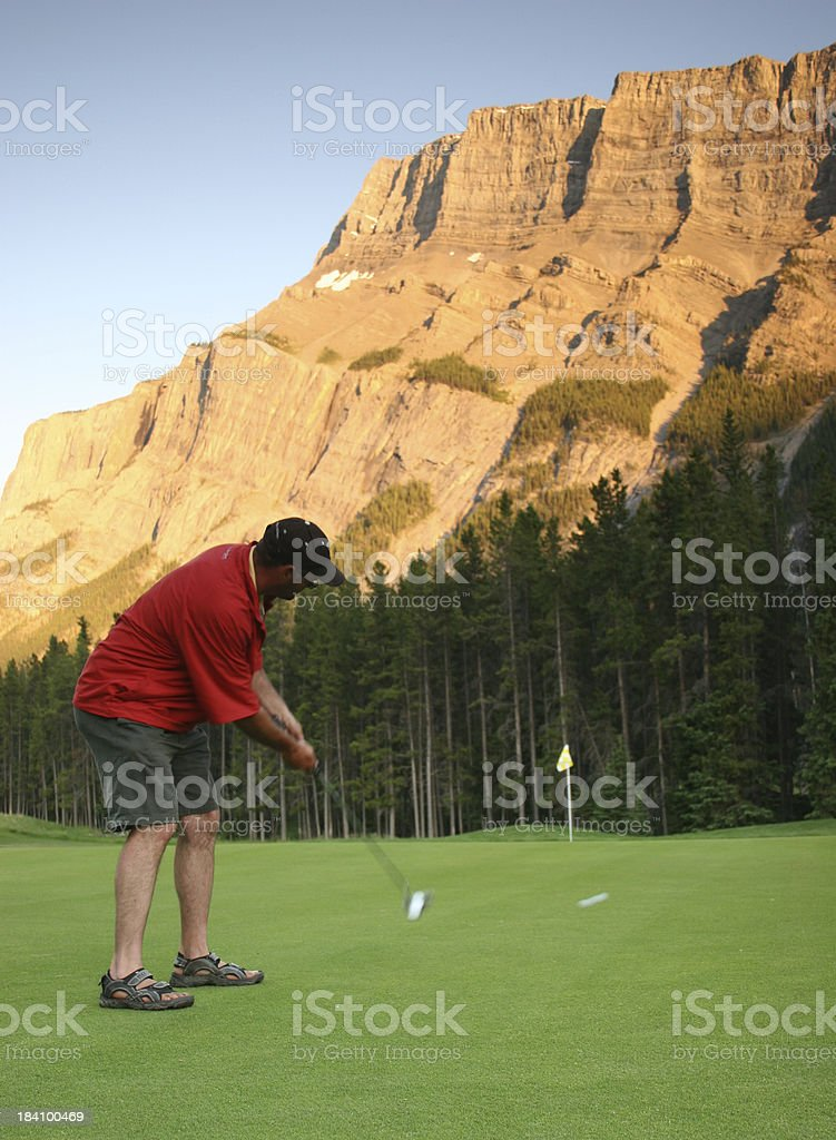 The Putting Stroke royalty-free stock photo