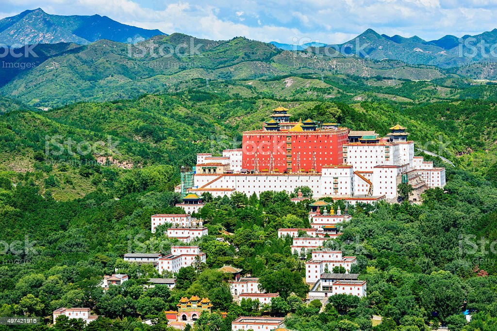 The Putuo Zongcheng Temple complex stock photo