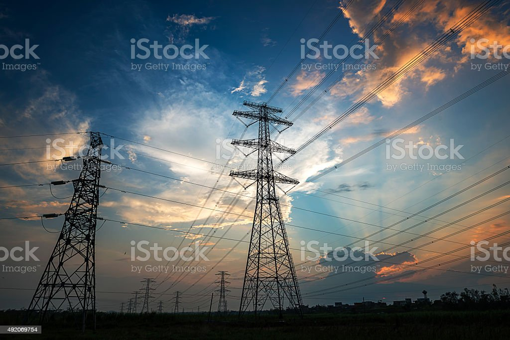 the pylon stock photo