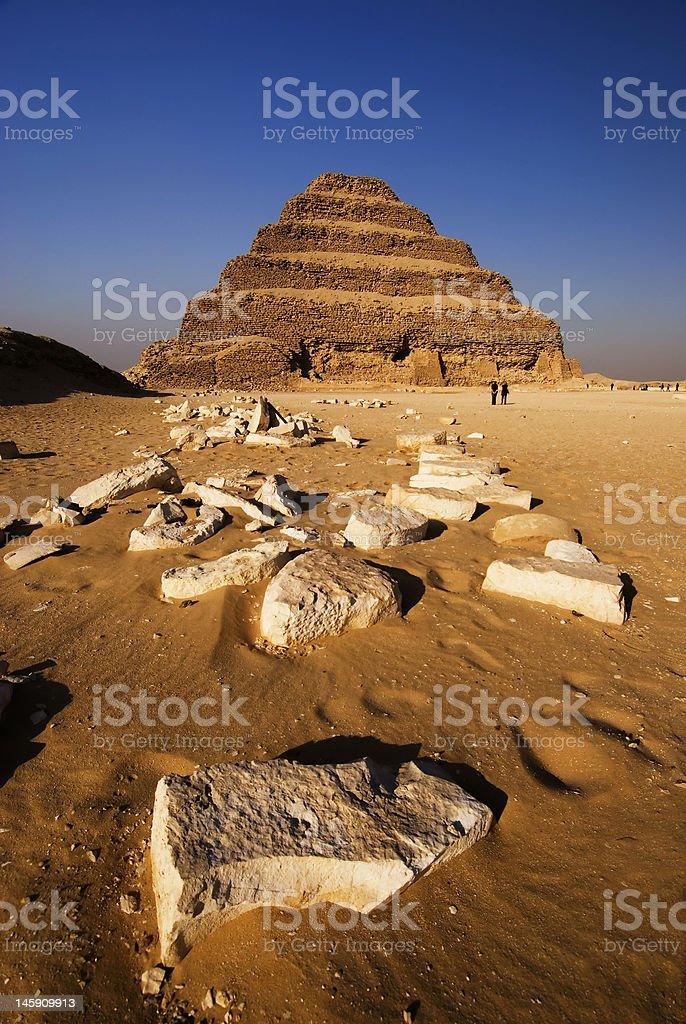 The pyramid at Sakara royalty-free stock photo